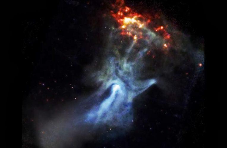 Vụ nổ siêu tân tinh có cấu trúc giống hình bàn tay